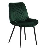 Luxus Horeca stoel velvet groen | Zithoogte 48cm