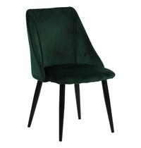 Luxus Eetkamerstoel velvet groen   Zithoogte 44cm