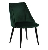 Luxus Horeca stoel velvet groen | Zithoogte 44cm