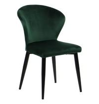 Luxus Eetkamerstoel velvet groen   Zithoogte 45cm