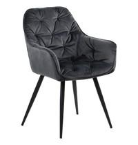 Luxus Horeca stoel velvet grijs | Zithoogte 48cm