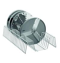 Bartscher Schijfstandaard RVS | Cap. 10-18 snijschijven | 400x245x85(h)mm