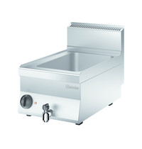 Bartscher Bain Marie 650 elektrisch | 1/1 GN | 1 kW/h | Aftapkraan | 400x650x295(h)mm