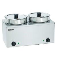 Bartscher Bain marie Hotpot RVS | 2x 6,5 liter | 230V | 505x280x320(h)mm