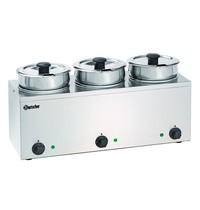 Bartscher Bain Marie Hotpot RVS | 3x 3,5L | 230V | 610x240x320(h)mm