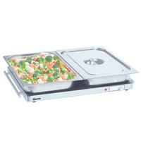 Bartscher Warmhoudplaat aluminium/glas WP300 | 2/1 GN | 230V | 670x550x40(h)mm