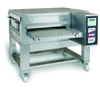 Zanolli Lopendeband elektrische pizzaoven RVS   18,5 kW/h   65cm band   1400x2000x550/1100(h)mm