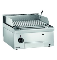 Bartscher Lavasteengrill gas 600 | 7,3 kW/h | V rooster | 600x600x290(h)mm