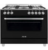 Saro Multifunctioneel gasfornuis met elektrische oven | 5 gasbrander | 900x600x850(h)mm