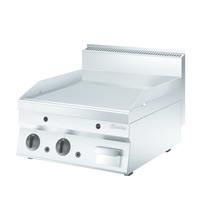 Bartscher Bakplaat/Grillpplaat 650 gas | 13 kW/h | Bakplaat glad 595x515mm | 600x650x295(h)mm