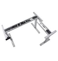 Luxus Bureau frame grijs met elektrische hoogte | 3 motoren | Hoogte 71-119cm