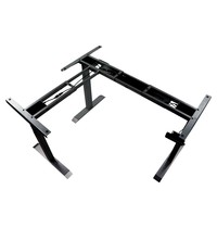 Luxus Bureau frame zwart met elektrische hoogte | 3 motoren | Hoogte 61,5-126,5cm