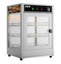 Saro Warmhoudvitrine RVS FIONA 43L | 230V | Binnen verlichting | 350x350x520(h)mm