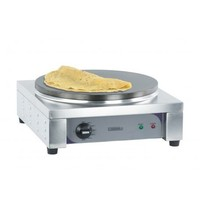 Casselin Crepes maker RVS elektrisch | 2,2 kW/h | Gietijzeren bakplaat Ø350mm | 390x400x190(h)mm