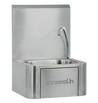 Casselin Handwasbak RVS met kniebediening | 400x340x545(h)mm