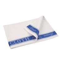 Vogue Glasdoek blauw halflinnen | 762(b)x508(d)mm