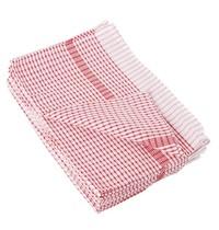 Vogue Theedoek wonderdry polyester/katoen rood | 10 stuks | 762(b)x508(d)mm
