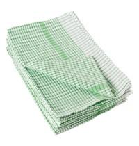 Vogue Theedoek wonderdry polyester/katoen groen | 10 stuks | 508(b)x762(d)mm
