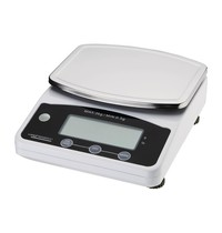 Weighstation Weegschaal RVS digitaal | Cap. 3 kg | Incl. adapter | 178x225x80(h)mm