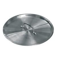Vogue Deksel aluminium voor K885 | 14(Ø)x4,3(h)cm