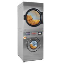 Diamond Wasmachine met super centrifuge 18kg (El) + rotatieve droogkast 18 kg (El) touch screen | 30 kW/h | 880x1196x2159(h)mm