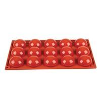 Pavoni Bakvorm siliconen | GN 1/3 -15 halve bollen |  5(Ø)x2,3(h)cm