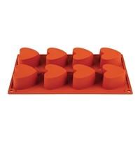 Pavoni Bakvorm siliconen | Cap. 8 hartjes | 70x60x35(h)mm