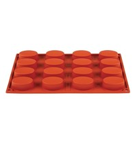 Pavoni Bakvorm siliconen | Cap. 16 ovalen | 53x33x20(h)mm