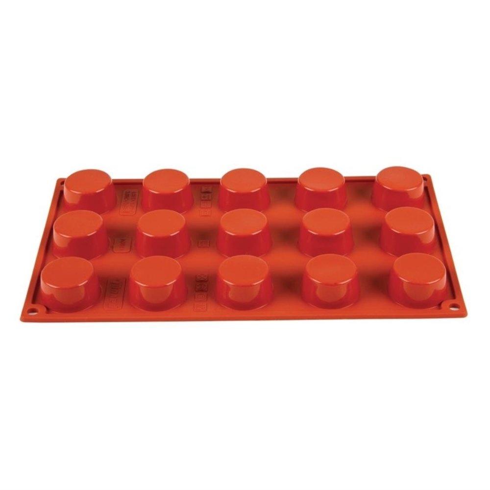 Bakvorm siliconen | Cap. 15 petit-fours | 4(Ø)x2(h)cm