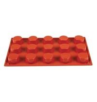 Pavoni Bakvorm siliconen | Cap. 15 petit-fours | 4(Ø)x2(h)cm