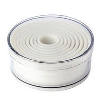 Schneider Stekerdoos set rond glad nylon | 9 stuks | 2 tot 10(Ø)cm