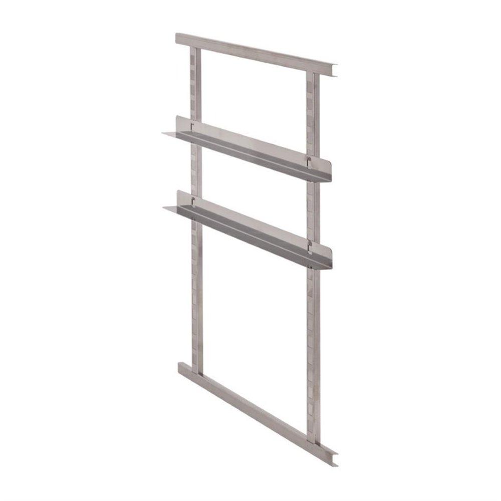4 RVS frames & 2 set rails voor DW585   620x60x45(h)mm