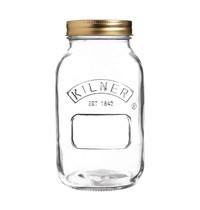 Kilner Weckpot glas met schroefdeksel 1L    9,3(Ø)x17,8(h)cm