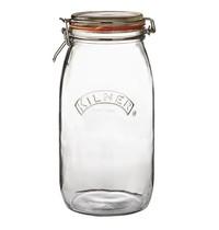 Kilner Weckpot glas met beugelsluiting 3L   14x14,5x28,5(h)cm
