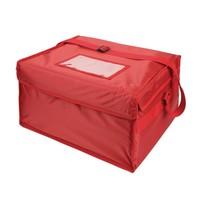 Vogue Pizza tas geïsoleerd nylon rood | Zonder binnen tas | 350x250x420(h)mm
