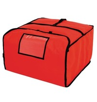 Vogue Pizza tas groot polyester rood | 510x510x305(h)mm