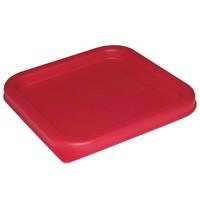 Vogue Deksel vierkant rood voor voedseldoos 5,5 & 7L