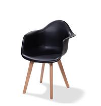 VEBA Keeve Trendy zwart met armleuningen | 615x610x830(h)mm