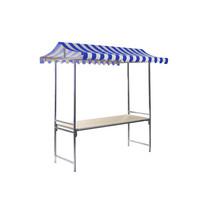 VEBA Marktkraam Professional blauw/wit | 2000x1510x2320(h)mm