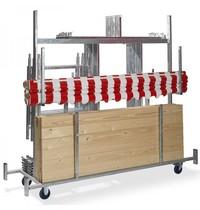 VEBA Trolley voor marktkramen | 2415x720x1980(h)mm