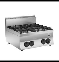 Gastro-Inox 650 HP gaskooktoestel 4 branders 70cm | 24 kW/h | 700x650x295(h)mm