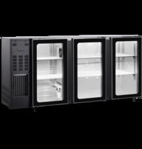 TopCold Barkoelkast | 488L | Zwart | +1°C/+8°C | Geventileerd | Compressor | 1775x565x890/905(h)mm