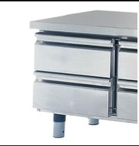Mastro Laden set 2x 1/2 voor gekoelde onderbouw 700mm - 100(h)mm | 450x500x430(h)mm