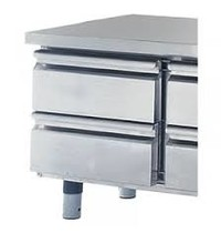 Mastro Laden set 2x 1/2 voor gekoelde onderbouw  - 100(h)mm | 450x500x430(h)mm