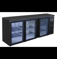 TopCold Barkoelkast | 460L | Zwart | 0°C/+4°C | Geventileerd | Compressor | 2002x513x860(h)mm