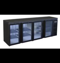 TopCold Barkoelkast | 630L | Zwart | 0°C/+4°C | Geventileerd | Compressor | 2542x513x860(h)mm