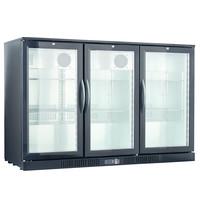 TopCold Barkoelkast | 320L | Zwart | +2°C/+12°C | Geventileerd | 1350x520x870(h)mm