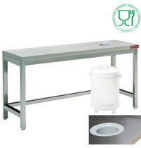 Diamond Afruimtafel | Sorteertafel | 700mm diep | 880mm hoog