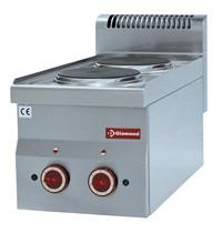 Diamond Fornuis elektrisch Top  2 kookplaten   4kW/h   300x600x280/400(h)mm