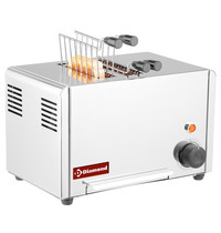 Diamond Toaster elektrisch ( croque monsieur ) RVS | 2 tangen | 320x200x225(h)mm